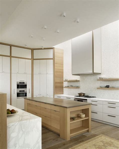 contemporary oak kitchen cabinets modern oak kitchen designs trendy wood finish in the kitchen 5743