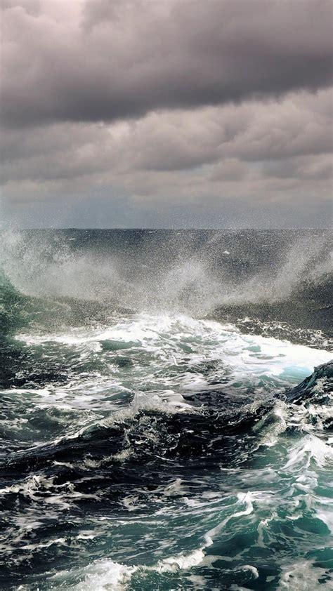sea storm waves wallpaper