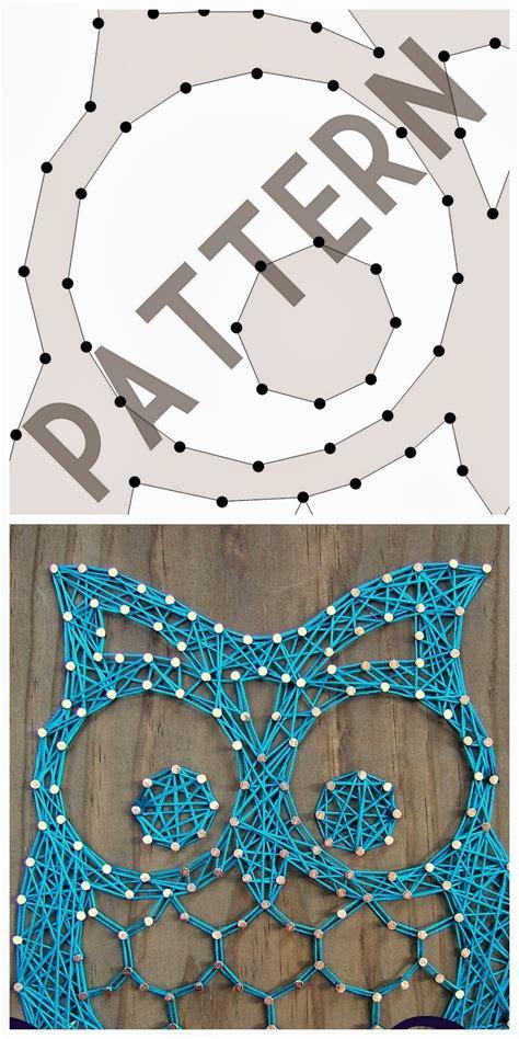 string art templates otis the owl pattern here
