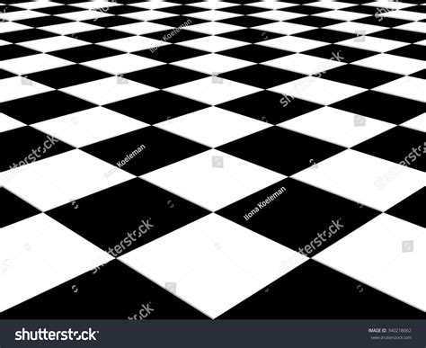 checkered background floor pattern perspective black stock
