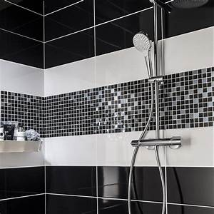 Carrelage Noir Salle De Bain : salle de bain carrelage noir brillant salle de bain salle ~ Dailycaller-alerts.com Idées de Décoration