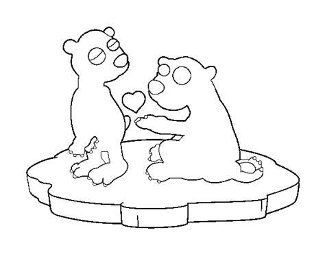 disegni da colorare di siamo orsi disegno di coppia di orsi innamorati da colorare acolore