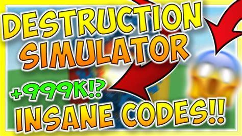 destruction simulator codes  youtube