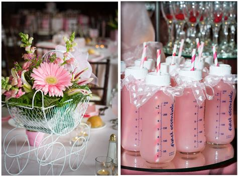 baby girl shower centerpieces home confetti baby girl shower