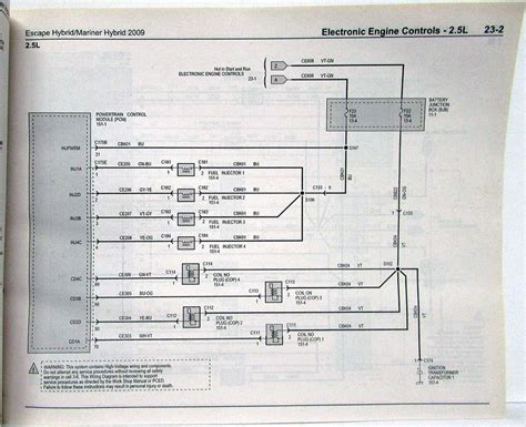 2009 ford escape mercury mariner hybrid electrical wiring diagrams manual