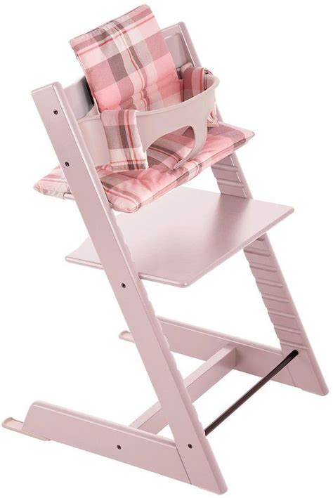 coussin chaise tripp trapp stokke tripp trapp cushion tartan pink baby gear
