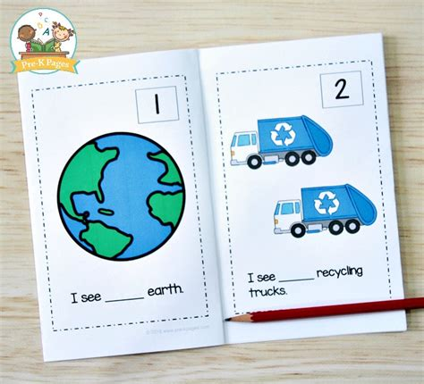 earth day math activities for preschool pre k pages 337 | Earth Day Printable Counting Book for Preschool
