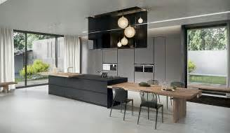 kitchen island as dining table sophisticated contemporary kitchens with cutting edge design