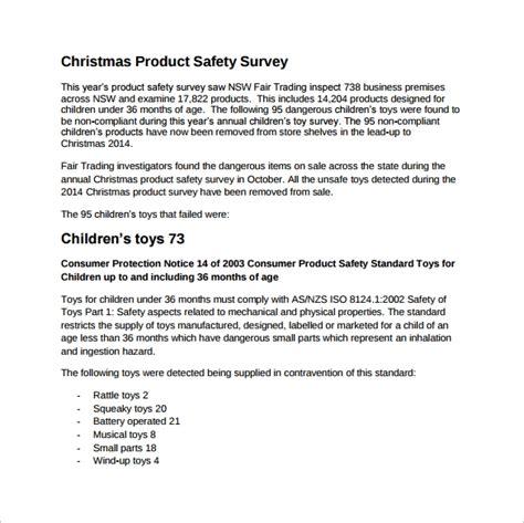 product survey templates    sample