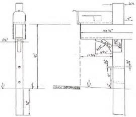 Mailbox Post Design Plans