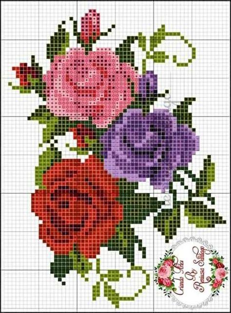 graficos de flores em ponto cruz gratis  baixar