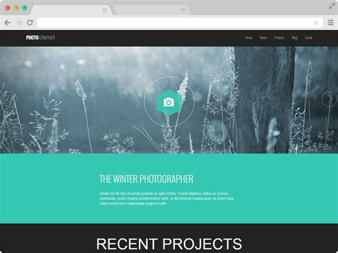 Photography Website Templates Responsive One Page Photography Website Template