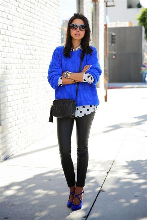 wear cobalt blue  fall fashionsycom