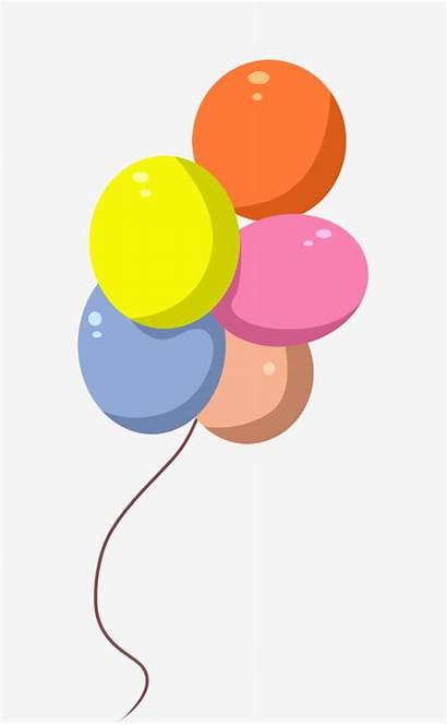 Balloon Cartoon Balloons Drawn Colored Hand Psd