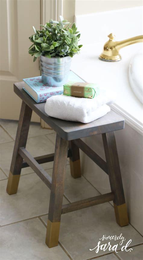 diy bathroom stool sincerely sara