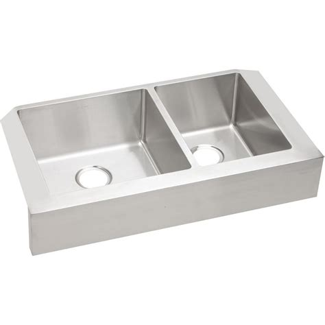 stainless apron front sink elkay crosstown farmhouse apron front stainless steel 32