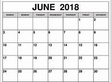 Juni 2018 Kalender Indonesia Liburan Template yang Dapat