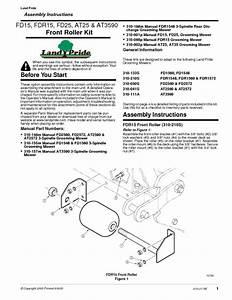 Front Roller Kit Fdr15 Manuals