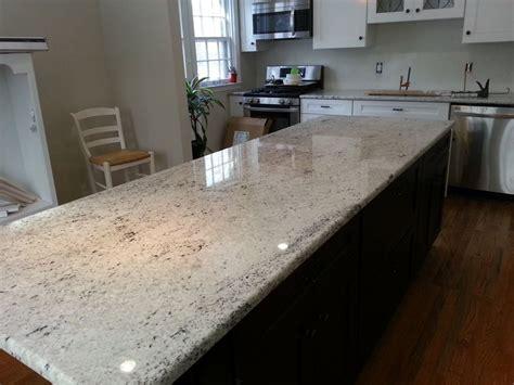 Kitchen Colonial White Granite Countertops Light
