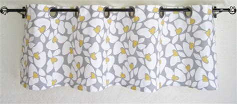 yellow and gray kitchen curtains valance 50 x16 premier prints helen gray white yellow