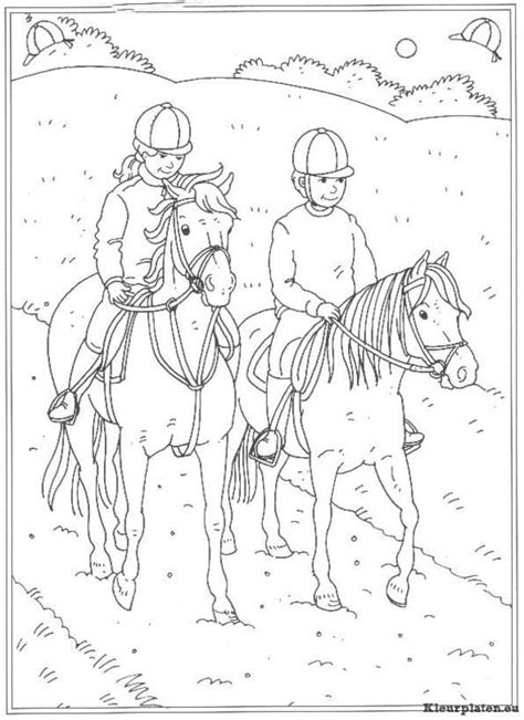 Kleurplaat Paarden Manege by Op De Manege Kleurplaten Leren Tekenen Kleurplaten