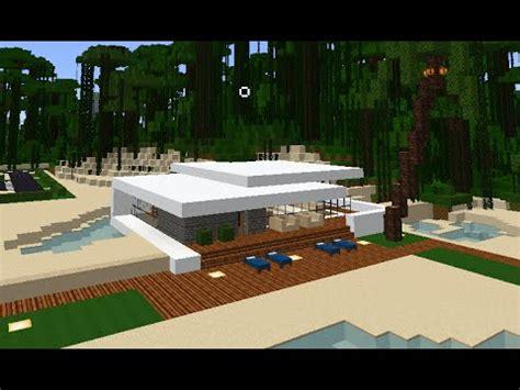 minecraft small modern beach office house  youtube