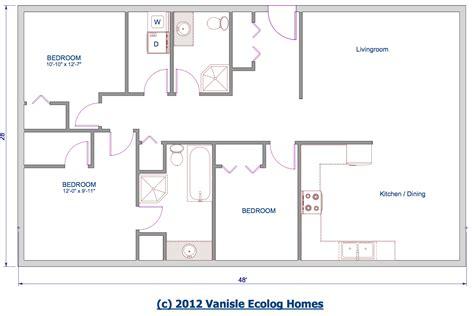 1 level house plans one level floor plans 3 bed floor plan 1344 sqft 28 39 x48