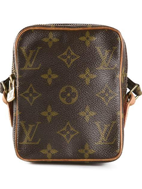 louis vuitton mini danube shoulder bag  brown lyst