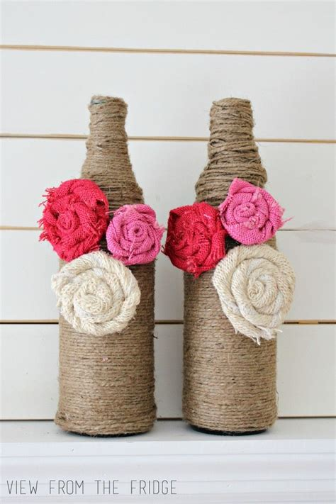 diy lazy twine wrapped bottle vases juggling act
