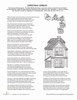 Christmas Worksheet Middle School Ela Christmas Best Free Printable Worksheets