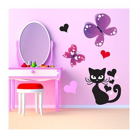 stikers chambre fille stickers chambre b 233 b 233 et papillons en exclusivit 233