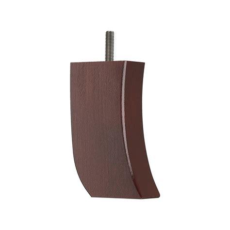 wooden sofa leg mm  mm curved  leg  mahogany