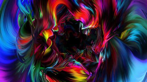 wallpaper neon art paint colorful dark background