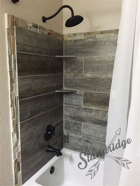 Ceramic Tiles For Bathrooms Ideas by Rustic Bathroom Barnwood Ceramic Tile House Rustic