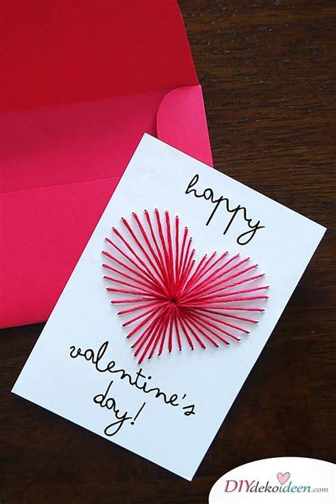 zum valentinstag karten basteln geht leicht mit diesen diy