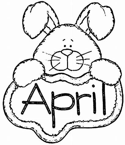 Coloring April Pages Printable Showers Bunny Sheets