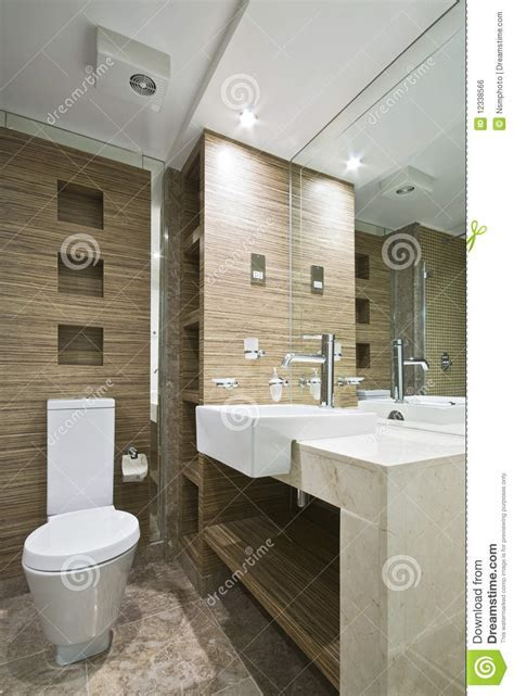 Marble Bathroom With Mosaic Tiles Stock Photo   Image of