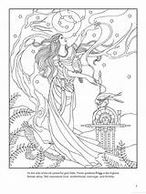 Coloring Goddess Pages Adult Norse Frigg Colouring Printable Difficult Moon Disney Grown Ups Goddesses Ziggurat God Wicca Books Print Pagan sketch template