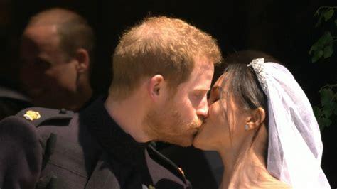 prince harry  meghan markles  kiss  husband