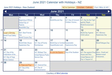 This page contains a national calendar of all 2021 public holidays. Print Friendly June 2021 New Zealand Calendar for printing