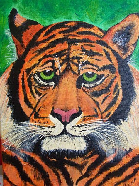 Wanita Menyusui Harimau Gambar Rainbow Corak Realistis Gambar Lukisan Dibuat Menyerupai Wujud Aslinya Sesuai Di Rebanas