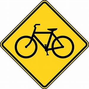 Bicycle Crossing, Color | ClipArt ETC