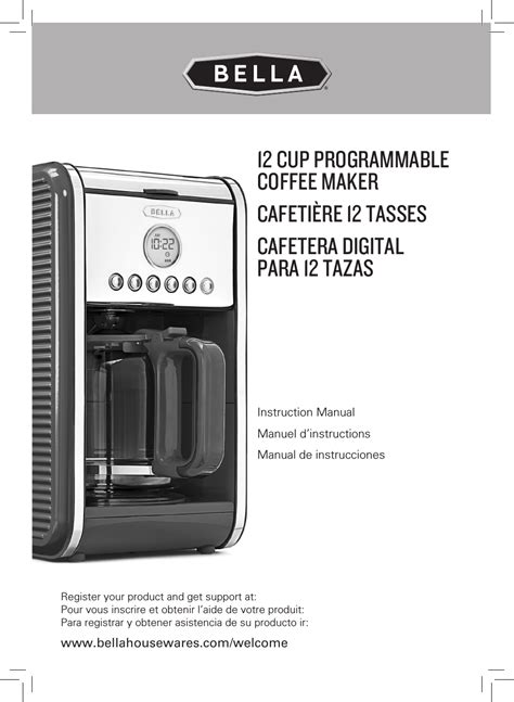 You may find documents other than just manuals as we also make available many user guides, specifications documents, promotional details, setup documents and more. BELLA 14108 Linea Collection 12-Cup Programmable Coffee Maker User Manual | 32 pages