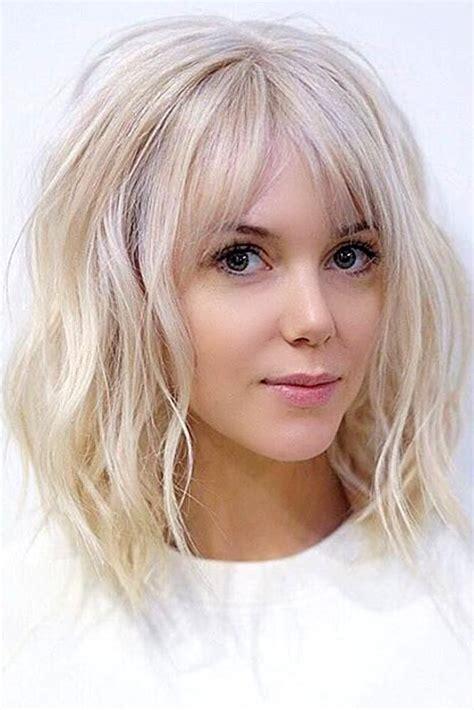 best 25 bangs medium hair ideas mid length hairstyles medium layered hair and