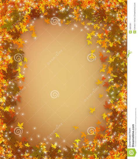 thanksgiving fall autumn border stock illustration