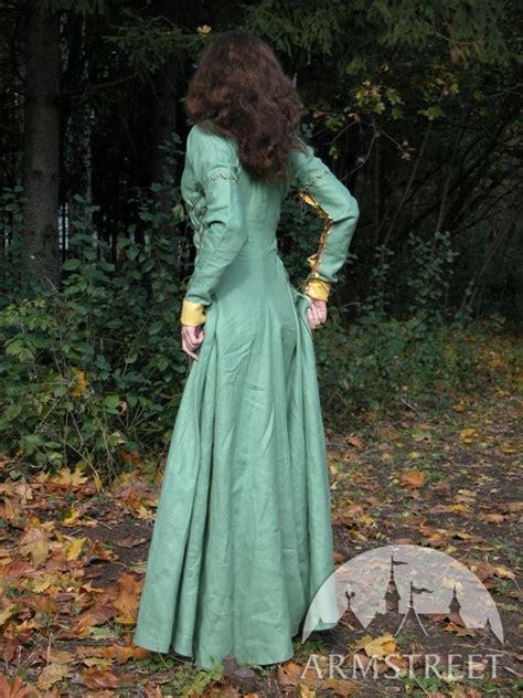 robe medievale reine des forets disponible en lin