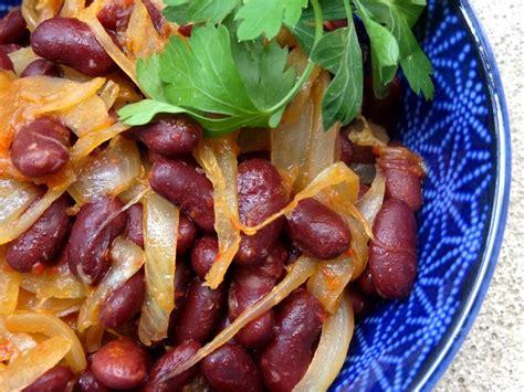 cuisiner des haricots rouges recette des haricots rouges pimentés aux oignons confits