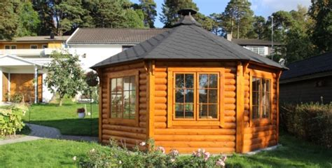 chalet finlandais en kit pavillon gloriette grillhote chalets bois kota grill