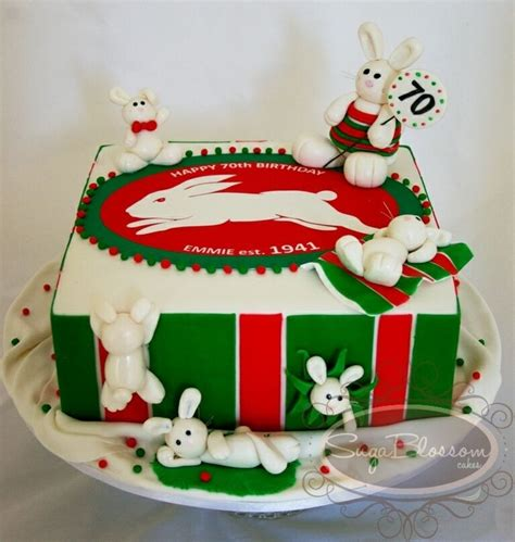 south sydney rabbitohs rugby league cake cakecentralcom