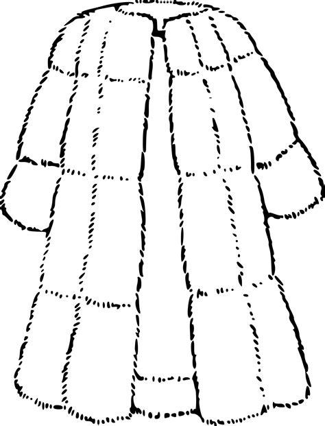 ecole cuisine coloriage manteau de fourrure à imprimer